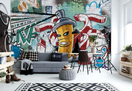 Wallpaper mural - easy install Graffiti Street Art 1397VEXXL